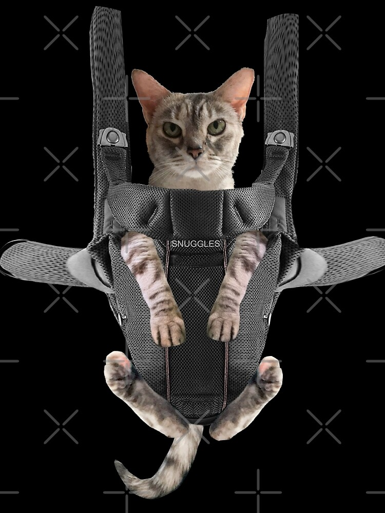Cat in Baby Carrier  by Del0860