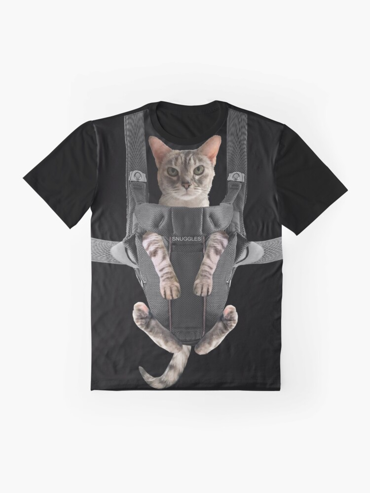 Alternate view of Cat in Baby Carrier  Graphic T-Shirt