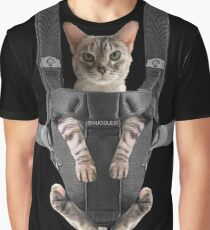 81529c8b4673 Cat in Baby Carrier Graphic T-Shirt