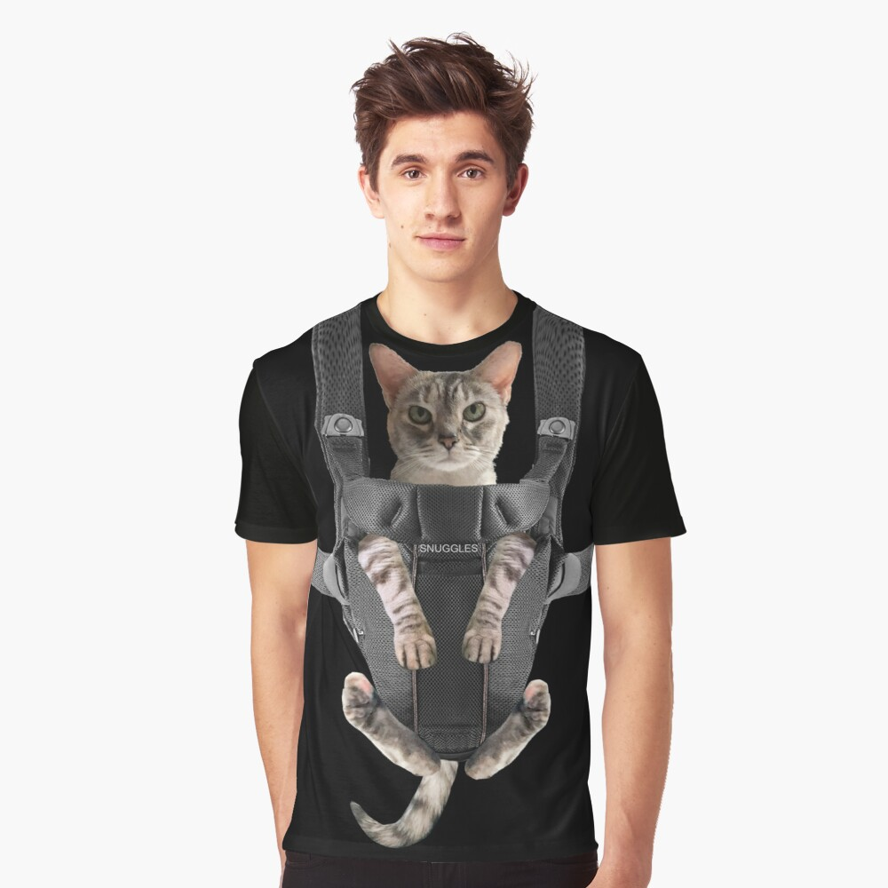 Cat in Baby Carrier  Graphic T-Shirt
