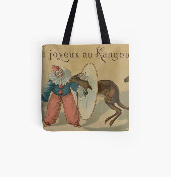 Jeu joyeux au kangourou, circa 1880 All Over Print Tote Bag