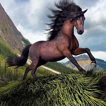 Rocky Mountain Stallion  by cybercat