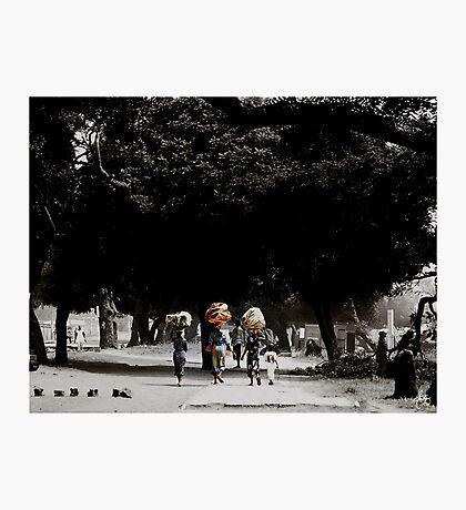 Washday in Accra Ghana Photographic Print