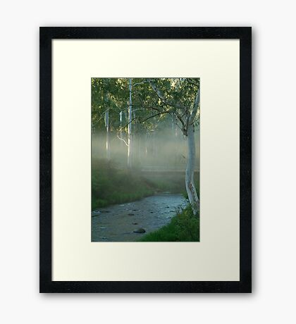 Dusty Trail,Sheepyard Flat, Victorian High Country Framed Print
