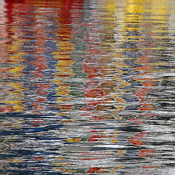 multicolour reflections in water by baji