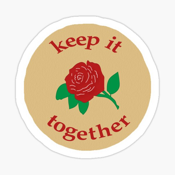 "De La Rosa ""Keep it Together"" Mazapan Sticker Sticker"