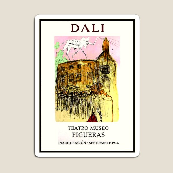 DALI : Vintage 1974 Teatro Museo Figueras Advertising Print Magnet