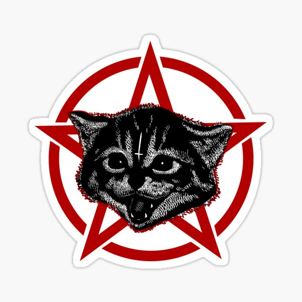 Metal music cat Sticker