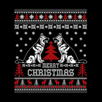 Merry Christmas German Shepherd by Katnovations