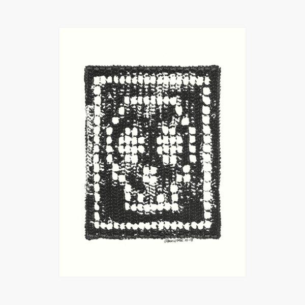 Crochet Impressions: SKULL Art Print