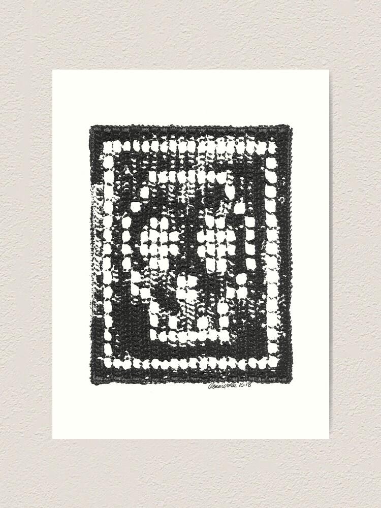 Alternate view of Crochet Impressions: SKULL Art Print