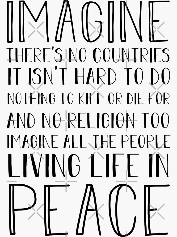 IMAGINE PEACE by maddiecrytzer