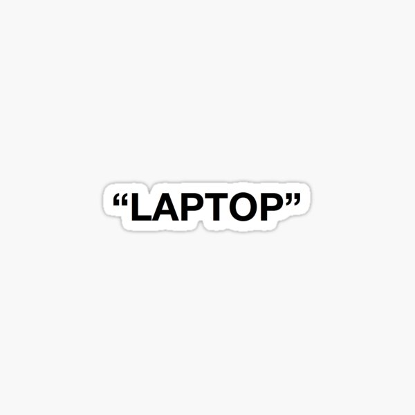 Laptop Off White Pegatina