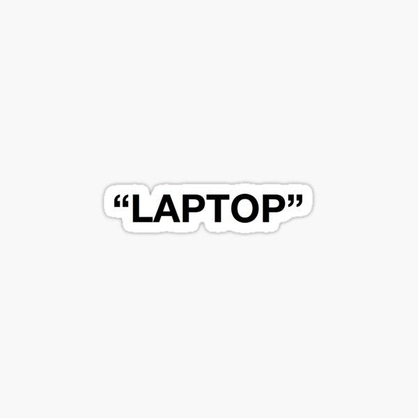 Laptop Off White Sticker