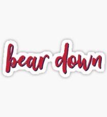 Bear Down University of Arizona Sticker