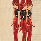 Afford costume designs: Sturt Desert Pea, 1935-1936 by State Library of South Australia