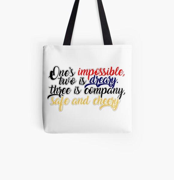 Company lyrics Sticker All Over Print Tote Bag