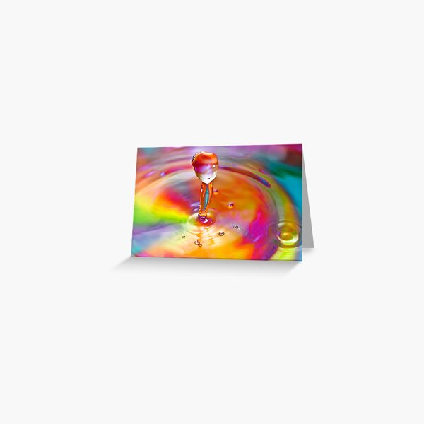 Drop of a rainbow Greeting Card