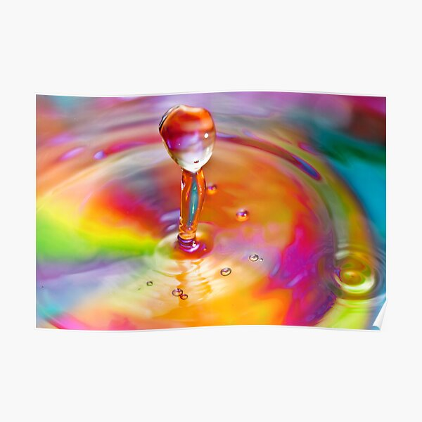 Drop of a rainbow Poster