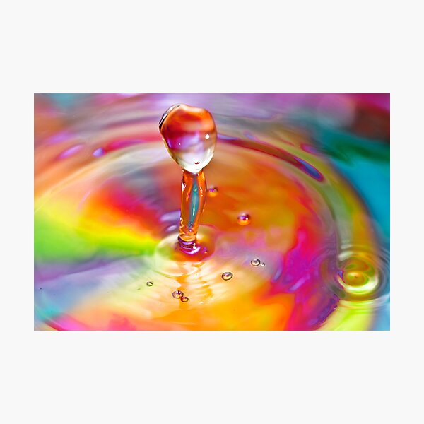 Drop of a rainbow Photographic Print