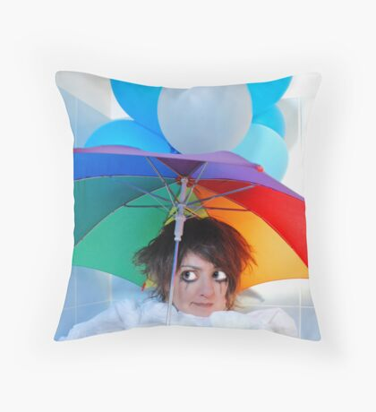 Waiting For Rain Throw Pillow