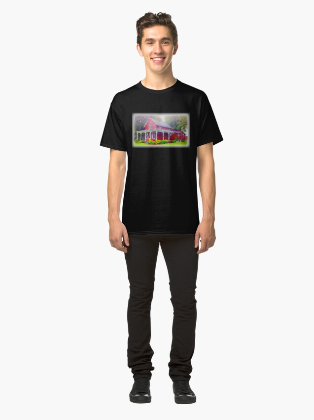 Alternate view of The Red Farmhouse, Norwalk, Ohio Classic T-Shirt