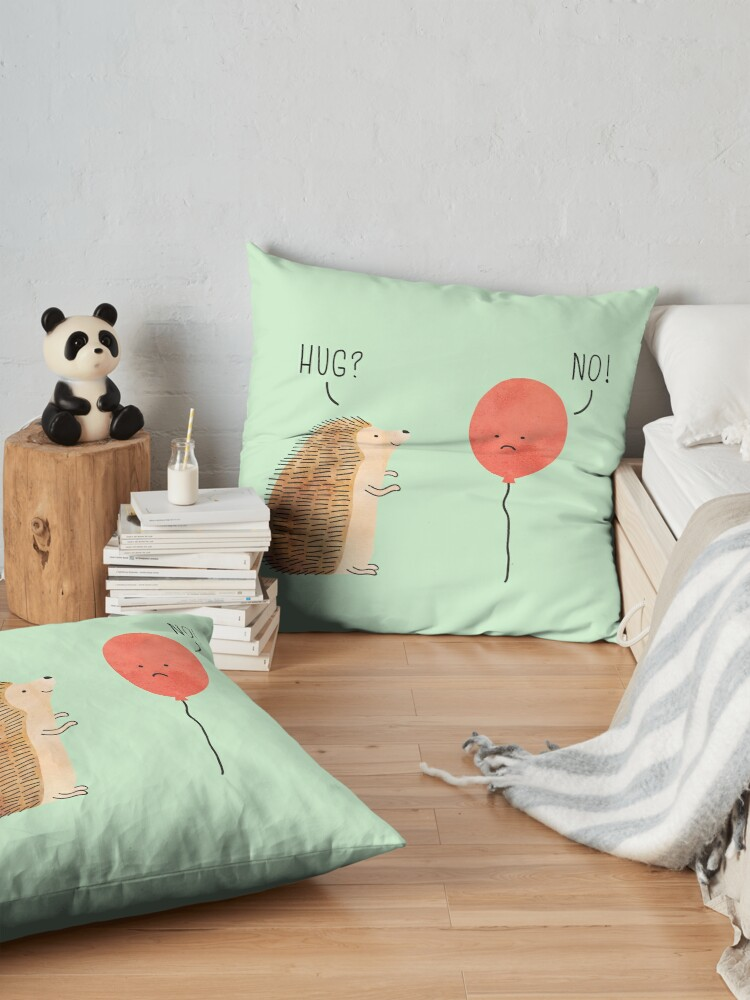 Alternate view of impossible love Floor Pillow