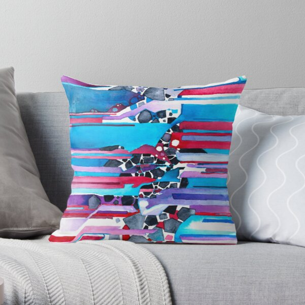 Everything Has An Edge - Watercolor Painting Throw Pillow