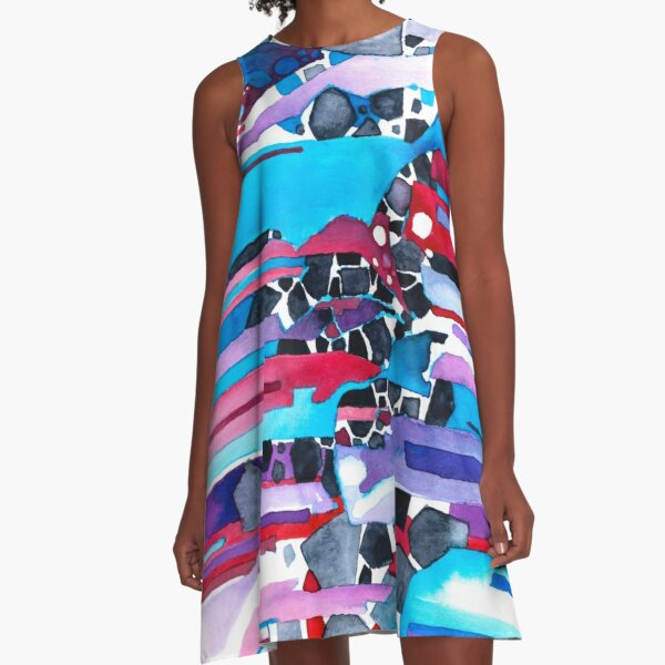 Everything Has An Edge - Watercolor Painting A-Line Dress