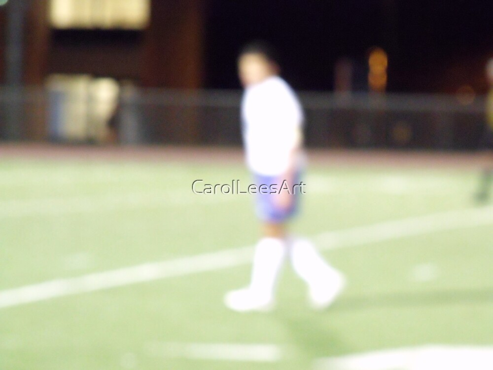 Life is a Blur #2 soccer by CarolLeesArt