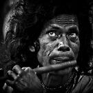 A flute player by Sagar Lahiri