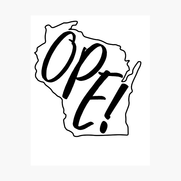 Ope- Wisconsin Photographic Print