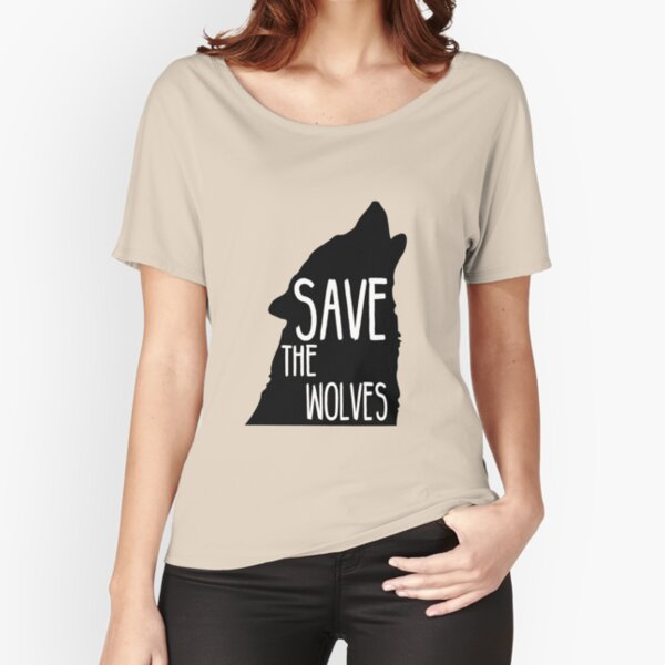 Save the Wolves Relaxed Fit T-Shirt