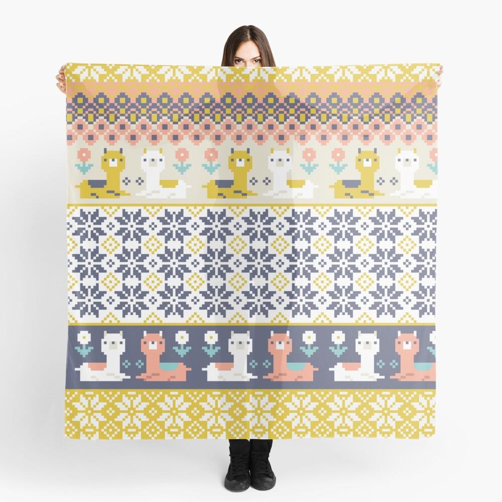 Alpaca Christmas Sweater Pattern  Scarf