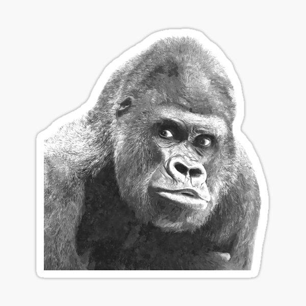 Black and White Gorilla Sticker