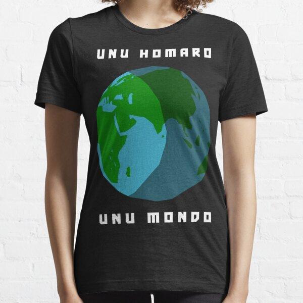 Unu Homaro, Unu Mondo - One Humanity, One World in Esperanto Essential T-Shirt