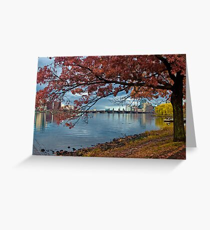 Under red tree Greeting Card