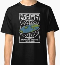 Flat Earth Society - Members Around The Globe Classic T-Shirt