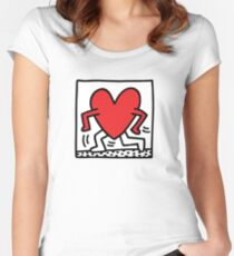 keith haring Women's Fitted Scoop T-Shirt