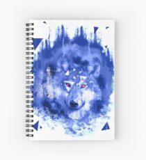 glitch wolf Spiral Notebook