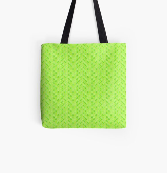 Horseshoes lime All Over Print Tote Bag