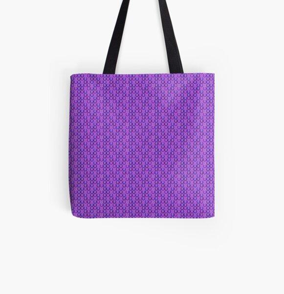 Horseshoes purple All Over Print Tote Bag