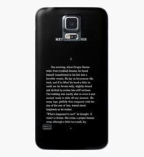 Metamorphosis Franz Kafka First Page T-Shirt Case/Skin for Samsung Galaxy