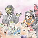 Fantasy Friends play a TableTop RPG by katdensetsu