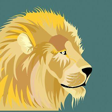 Lion - Modern Art by mcb-jp