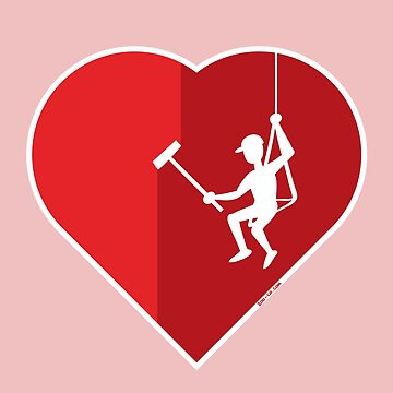 Heart cleaning by a professional window cleaner by Zoo-co