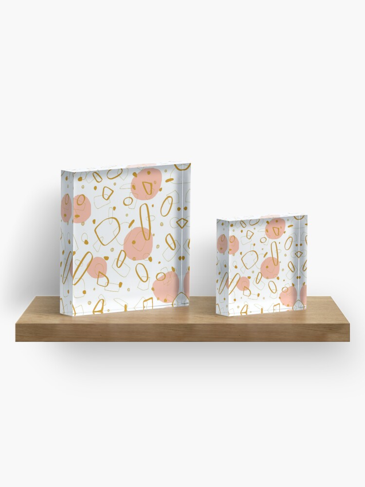 Alternate view of Doodle Pattern 04 #redbubble #doodle #pattern Acrylic Block