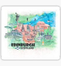 Edinburgh Scotland Travel Map Sticker
