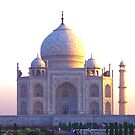 The Taj Mahal at sunrise by John Dalkin