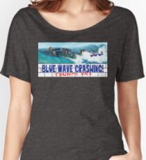 Blue Wave Crashing Women's Relaxed Fit T-Shirt